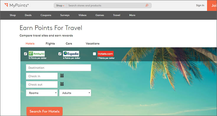 mypoints travel