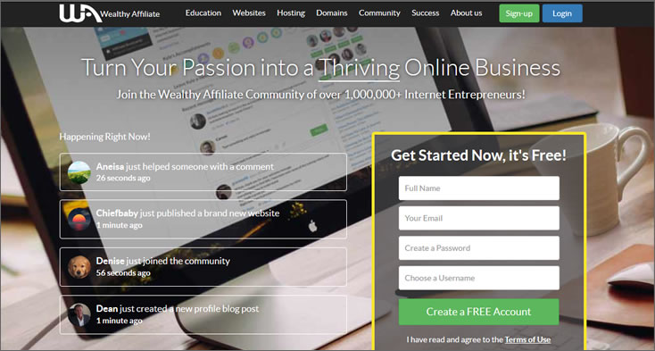 wealthy affiliate site