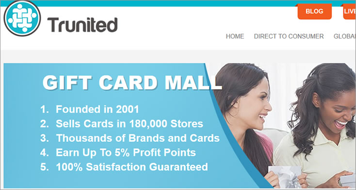 Trunited gifts card mall