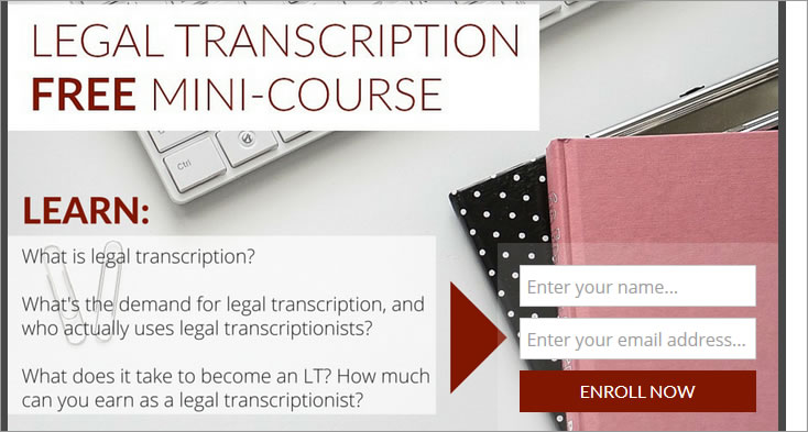 free legal transcription mini course