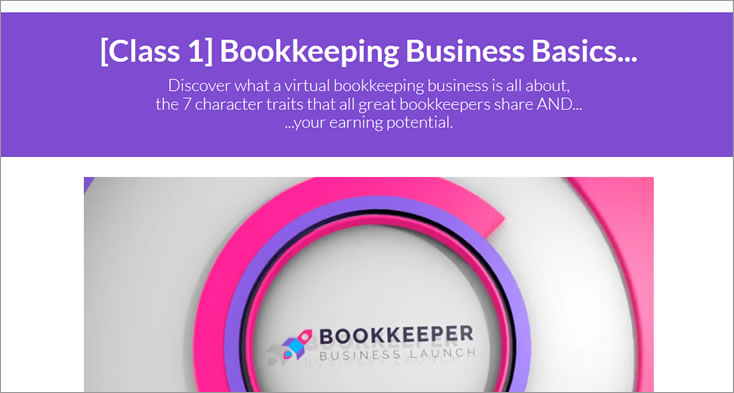 Bookkeeper Business Launch course